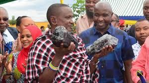 trouvaille exceptionnelle de tanzanite en Tanzanie
