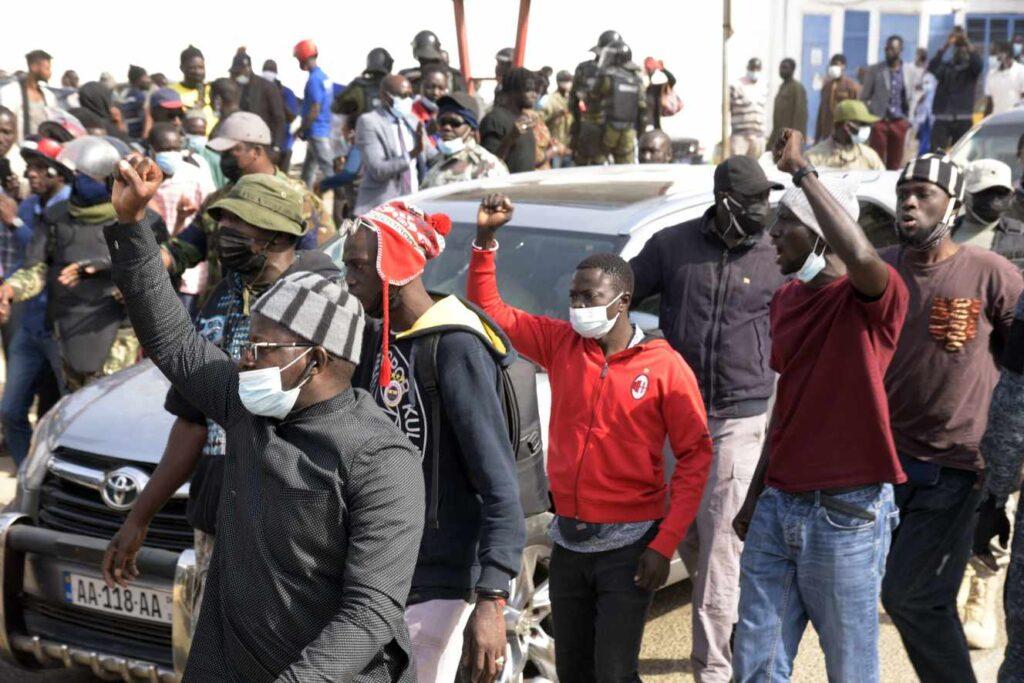 Demonstration in Senegal following the arrest of Ousmane Sonko