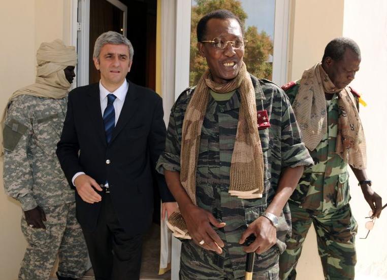 Idriss Déby Itno et Hervé Morin